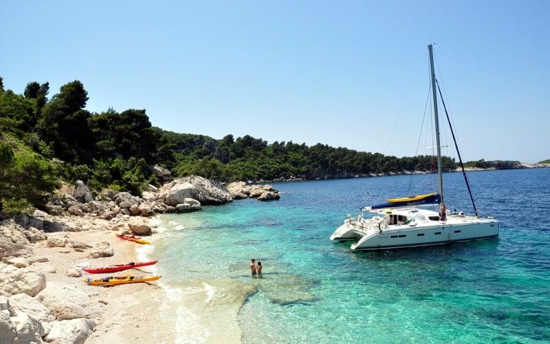 elafiti 2 catamaran charter Croatia Catamaran rent Croatia skippered yacht cruise sailboat multihull vessel sailing holidays Adriatic