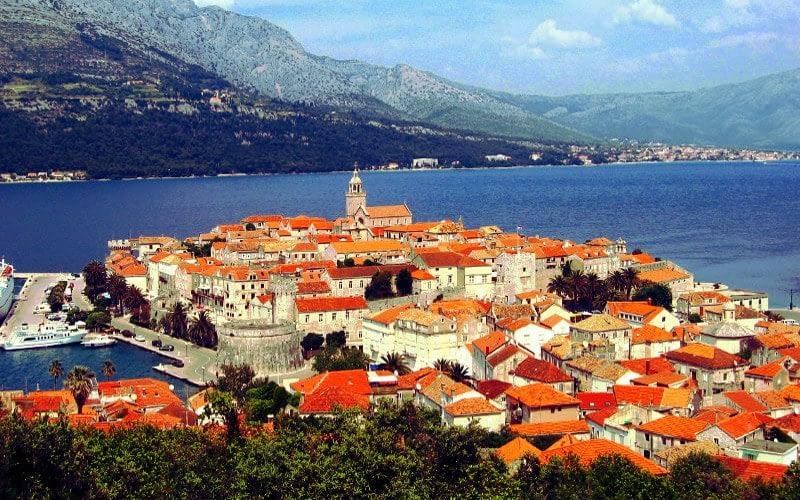 Korcula city catamaran charter Croatia Catamaran rent Croatia skippered yacht cruise sailboat multihull vessel sailing holidays Adriatic