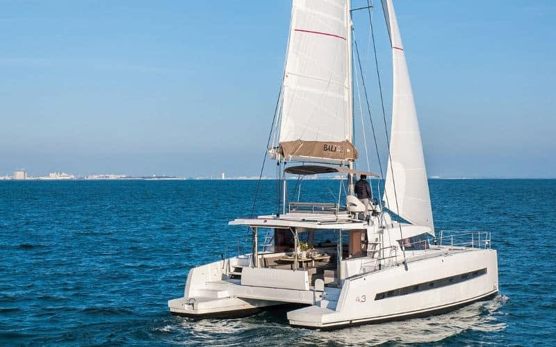 Bali 4.3-7 catamaran charter Croatia Catamaran rent Croatia skippered yacht cruise sailboat multihull vessel sailing holidays Adriatic