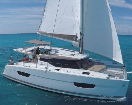 Fountain Pajot Saona 47 ( Martin V ) Catamaran charter Croatia