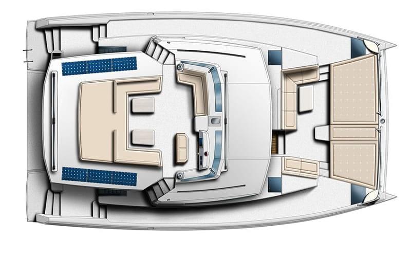 Catamaran rent croatia Bali 5.4 Luxury flydeck layout catamaran charter Croatia dalmatia skippered yacht cruise sailboat multihull vessel