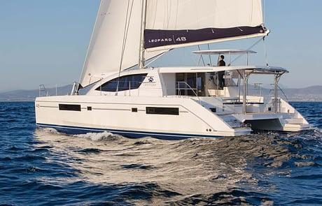Leopard 48-2 catamaran charter Croatia Catamaran rent Croatia skippered yacht cruise sailboat multihull vessel sailing holidays Adriatic