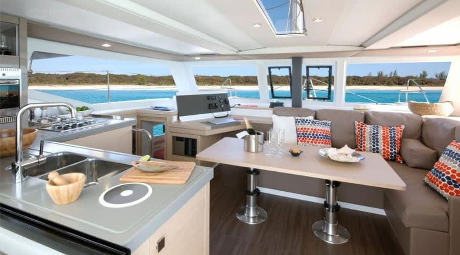 Catamaran rent croatia Fountain Pajot Lucia 40 Shanti 7 catamaran yacht charter Croatia dalmatia skippered yacht cruise sailboat multihull vessel sailing holidays Adriatic