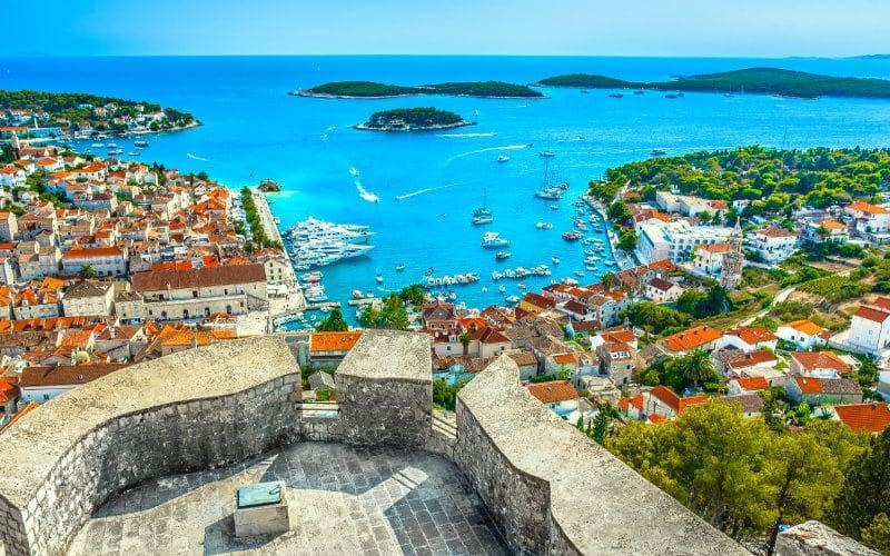 Hvar city catamaran charter Croatia Catamaran rent Croatia skippered yacht cruise sailboat multihull vessel sailing holidays Adriatic