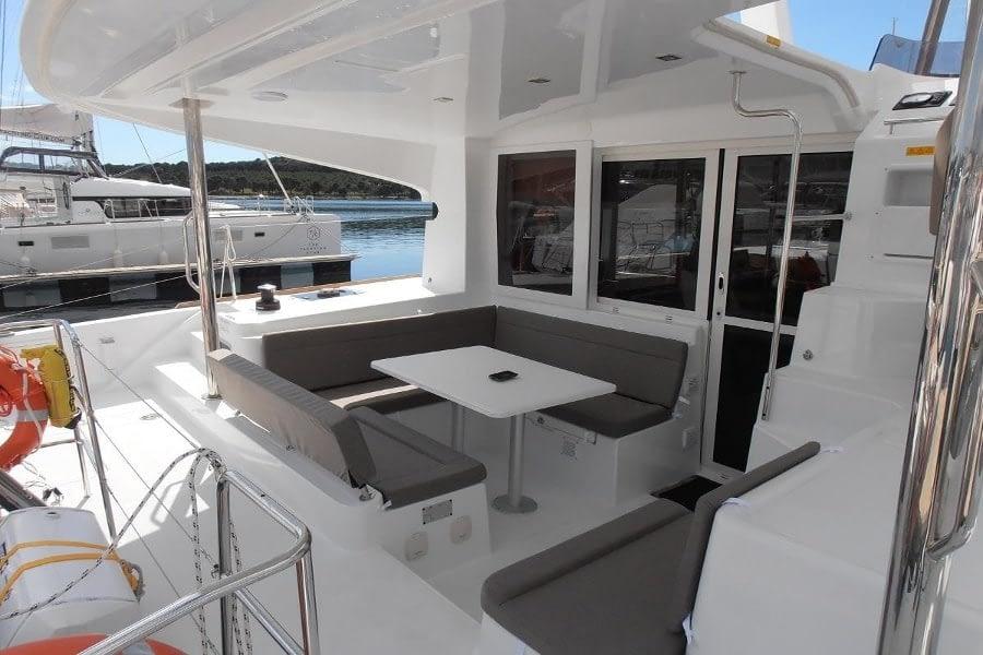catamaran rent croatia Lagoon 40 MY Crazy cat 2 dalmatia yacht rental charter boat sailing holidays skipper for hire in adriatic multihull vessel