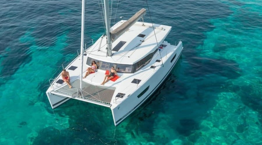 Catamaran rent croatia Fountain Pajot Lucia 40 Shanti 3 catamaran yacht charter Croatia dalmatia skippered yacht cruise sailboat multihull vessel sailing holidays Adriatic