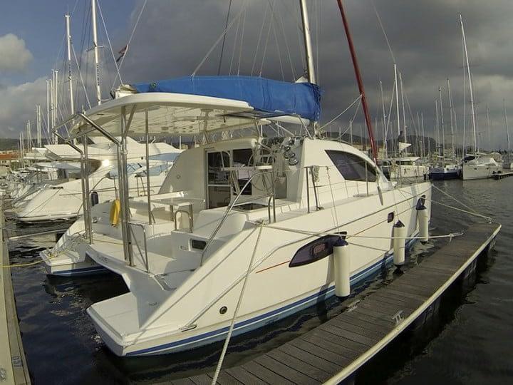 Catamaran rent croatia Leopard Adamus 1 catamaran charter Croatia dalmatia skippered yacht cruise sailboat multihull vessel sailing holidays Adriatic