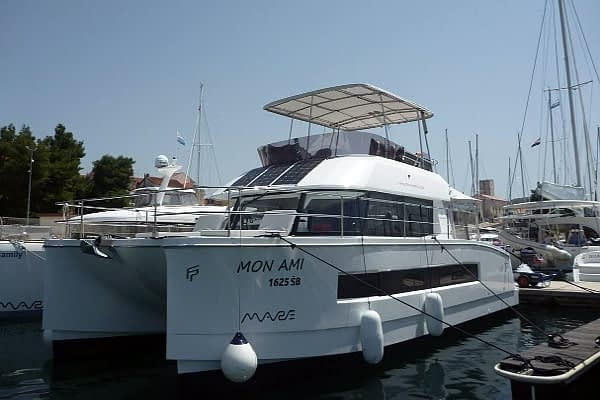 catamaran rent croatia Fountain Pajot MY 37 Mon Ami for a in yacht rental charter boat sailing holidays skipper hire adriatic rentals charters 9
