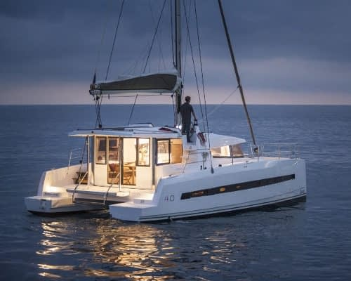 Bali 4.0 NEA 2 catamaran charter Croatia Catamaran rent Croatia skippered yacht cruise sailboat multihull vessel sailing holidays Adriatic