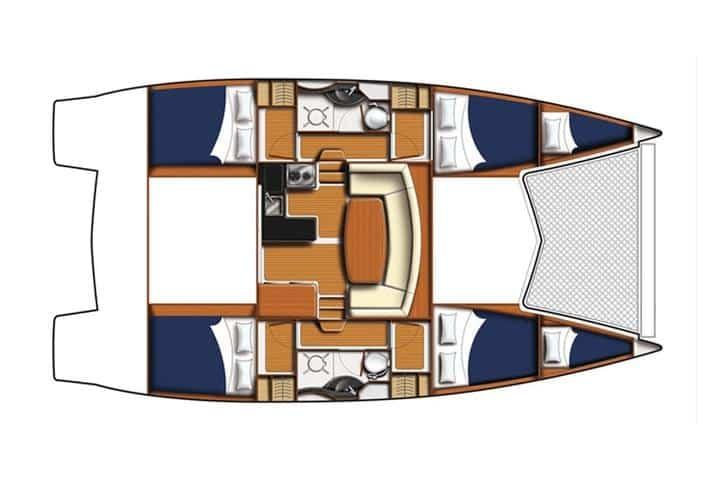 Catamaran rent croatia Leopard Adamus 2 catamaran charter Croatia dalmatia skippered yacht cruise sailboat multihull vessel sailing holidays Adriatic