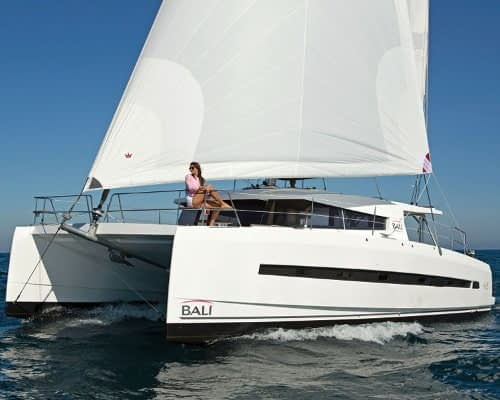 Bali 4.5 Rozi V -15 catamaran charter Croatia Catamaran rent Croatia skippered yacht cruise sailboat multihull vessel sailing