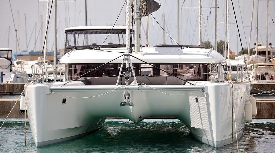 croatia catamaran rent Lagoon 450 Adriatic Queen 5 for a in yacht rental charter boat sailing holidays skipper hire adriatic rentals charters