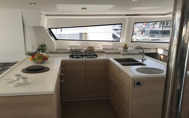 Catamaran rent croatia Bali 5.4 Luxury 7 catamaran charter Croatia dalmatia skippered yacht cruise sailboat multihull vessel sailing holidays
