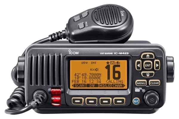 How to use VHF radio station on a catamaran