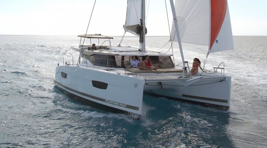 Catamaran rent croatia Fountain Pajot Lucia 40 Shanti 2 catamaran yacht charter Croatia dalmatia skippered yacht cruise sailboat multihull vessel sailing holidays Adriatic