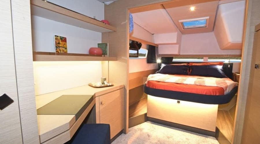 Catamaran rent croatia Fountain Pajot Lucia 40 Shanti 11 catamaran yacht charter Croatia dalmatia skippered yacht cruise sailboat multihull vessel sailing holidays Adriati