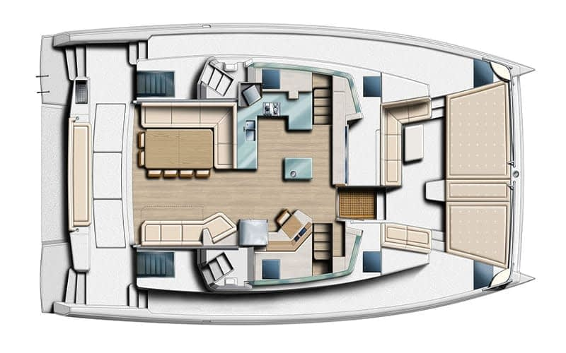 Catamaran rent croatai Bali 5.4 Luxury deck layout catamaran charter Croatia dalmatia skippered yacht cruise sailboat multihull