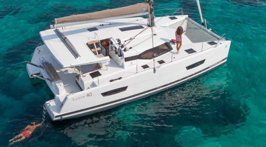 Catamaran rent croatia Fountain Pajot Lucia 40 Shanti 4 catamaran yacht charter Croatia dalmatia skippered yacht cruise sailboat multihull vessel sailing holidays Adriatic