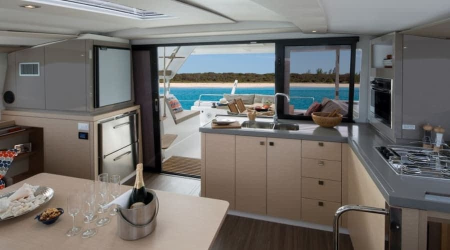Catamaran rent croatia Fountain Pajot Lucia 40 Shanti 8 catamaran yacht charter Croatia dalmatia skippered yacht cruise sailboat multihull vessel sailing holidays Adriatic