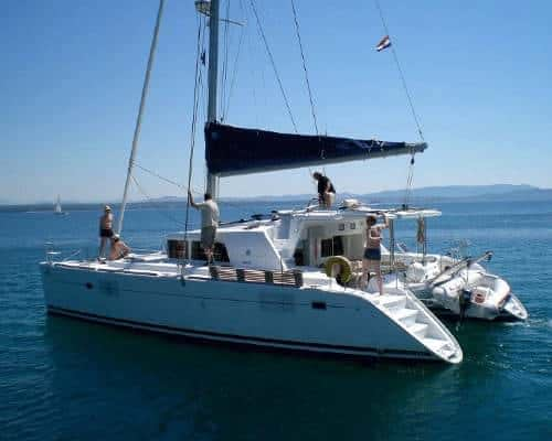 catamaran charter Croatia rent skippered yacht cruise sailboat multihull vessel sailing holidays Adriatic