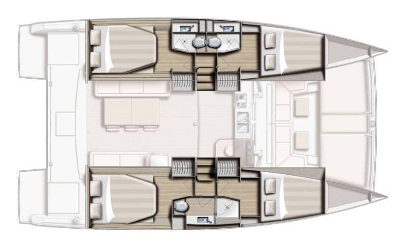 Bali 4.0 Opposing Thumb catamaran charter Croatia Catamaran rent Croatia skippered yacht cruise sailboat multihull vessel sailing holidays Adriatic