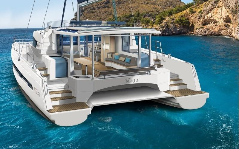 Catamaran rent croatia Bali 5.4 Luxury 1 catamaran charter Croatia dalmatia skippered yacht cruise sailboat multihull vessel sailing holidays
