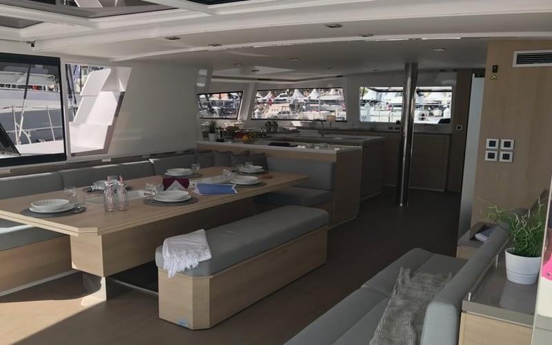 Catamaran rent croatia Bali 5.4 Luxury 5 catamaran charter Croatia dalmatia skippered yacht cruise sailboat multihull vessel sailing holidays