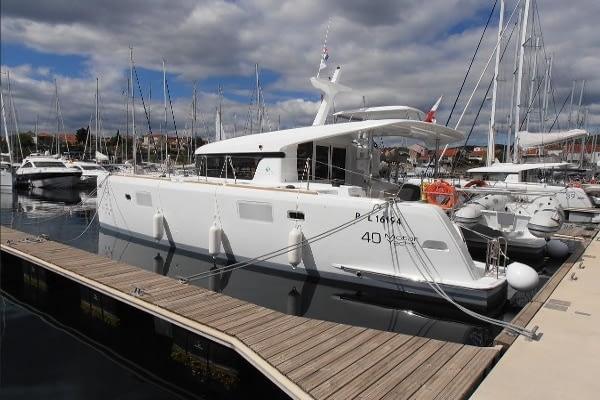 catamaran rent croatia Lagoon 40 MY Crazy cat 9 dalmatia yacht rental charter boat sailing holidays skipper for hire in adriatic multihull vessel
